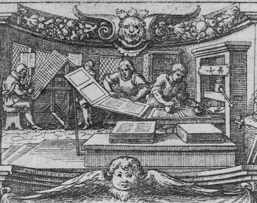 Buchdruckerwerkstatt, 1635
