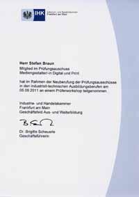 Qualifikation medien sachverst ndiger for Ihk offenbach